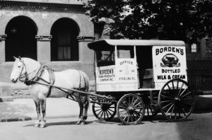Borden's Horse Drawn Milk Delivery Wagon